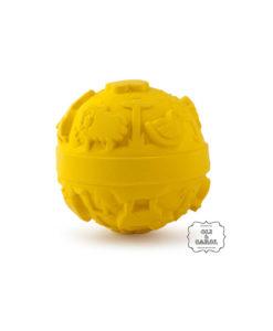 Rubber babybal geel