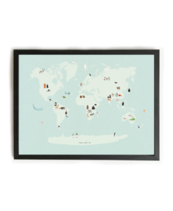 Poster Almost an Animal World Map