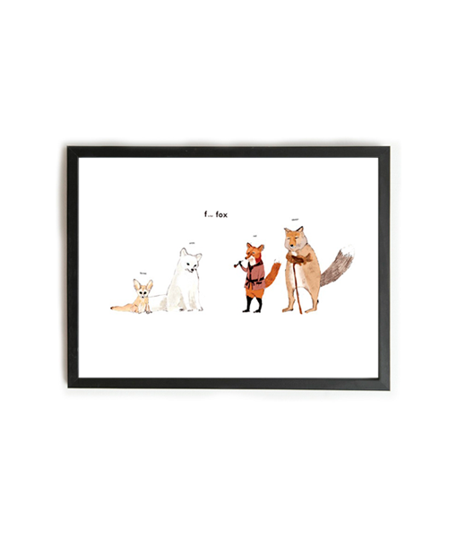 Poster F is for Fox