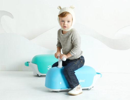 Bontoy | Loopwagentje Walvis Blauw