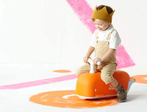 Bontoy | Loopwagentje Walvis Oranje
