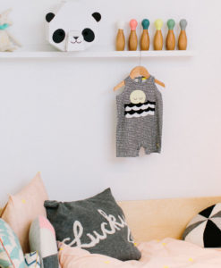Little Panda Head in room